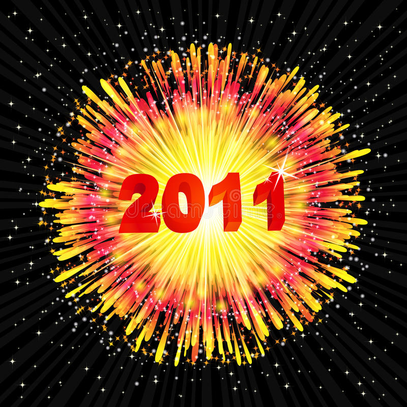 New Year's background with a flash of fireworks. vector illustration