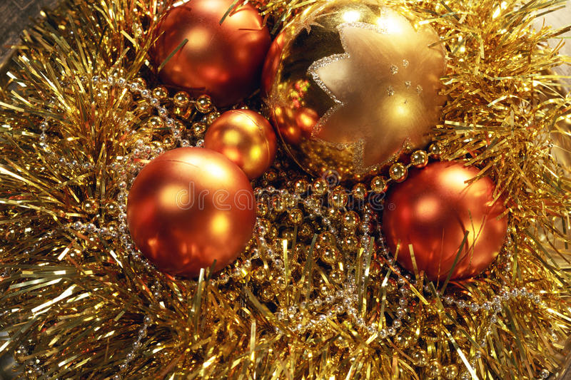 The New year's balls stock photography