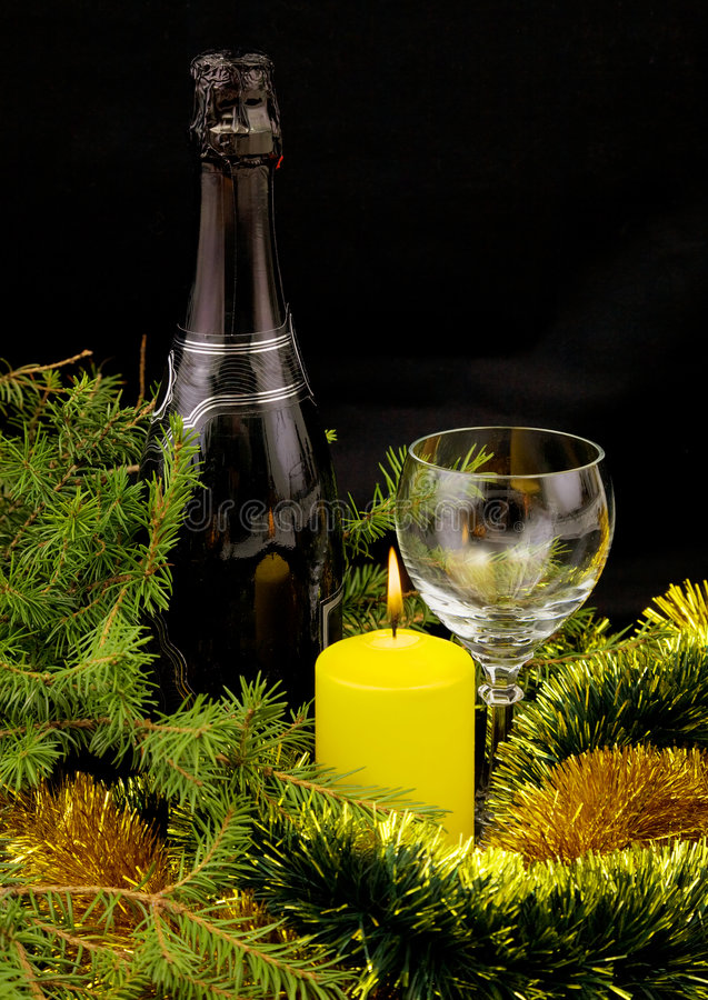 Download New Year's Bottle Of Champagne Stock Photos - Image: 6816873