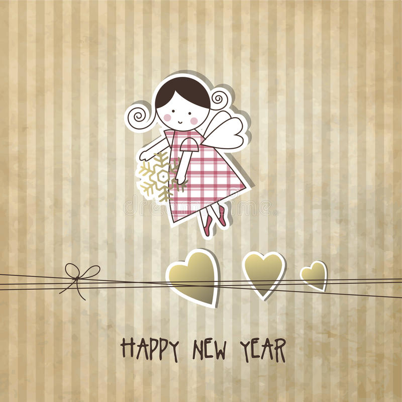 New year's card. With copy space stock illustration