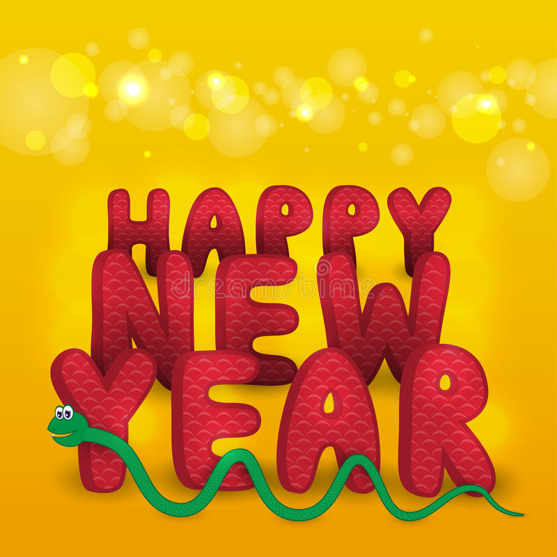 Download New Year's card with snake stock vector. Image of graphic - 26670799