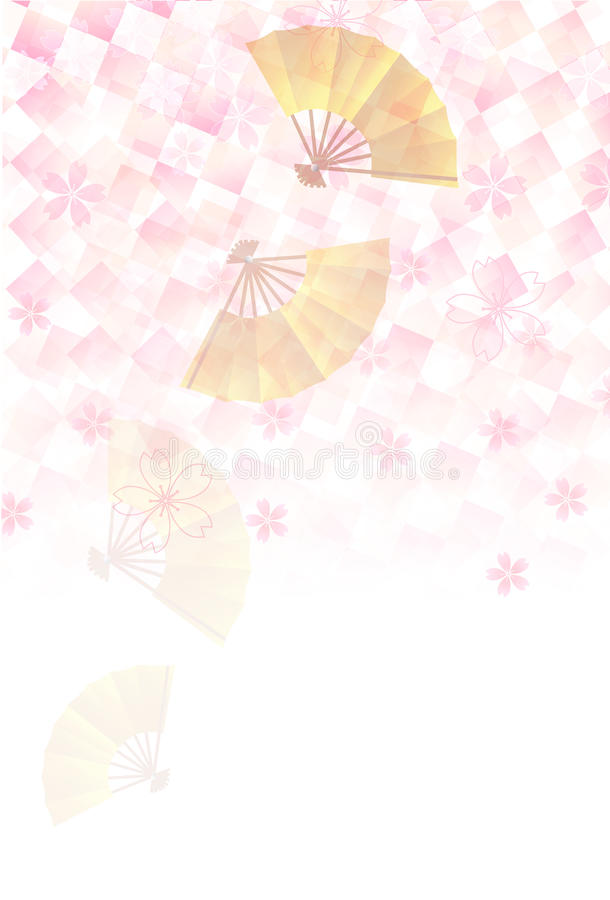 New Years card tree background of cherry