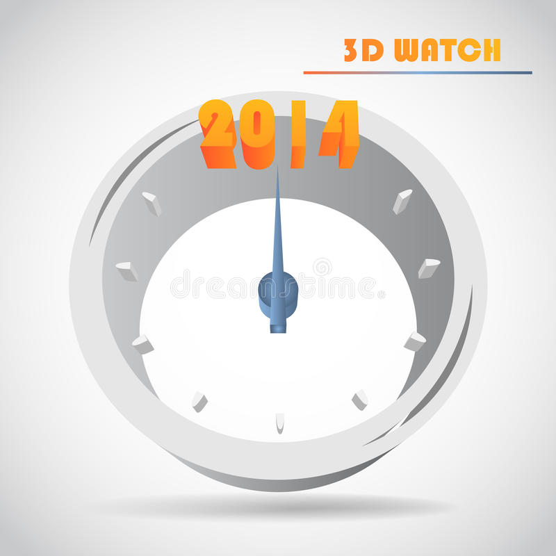 New Year s clock vector