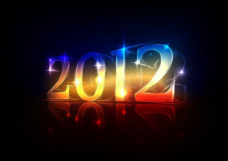New Year's Eve 2012, a neon design stock photos