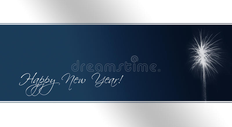New Year's Eve Card (text paths included) royalty free illustration