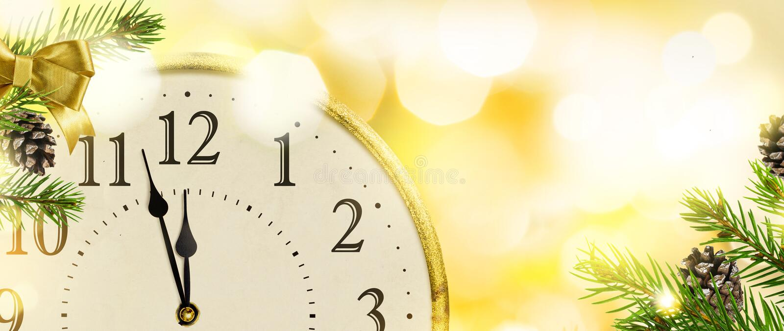 New Year`s Eve clock background. royalty free stock photos