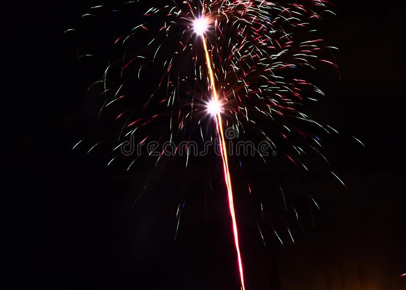 New year`s eve fireworks stock photos