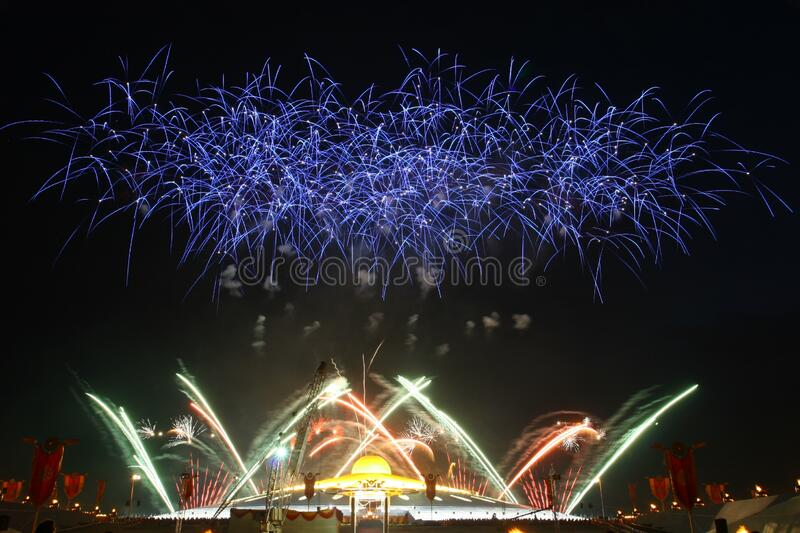 New Year's Eve fireworks stock images