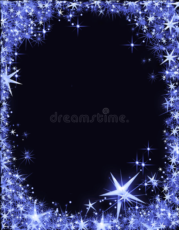 Download New Year's Eve Frame With Stars Stock Photography - Image: 7126892