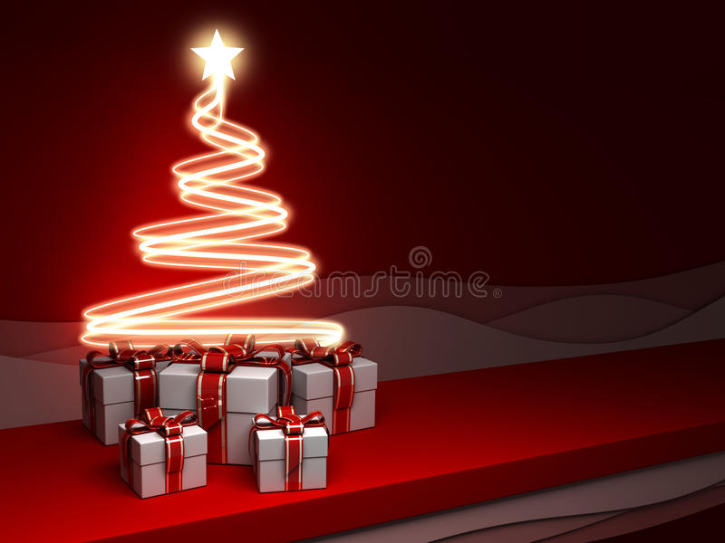 New Year S Eve And Gifts Stock Photography