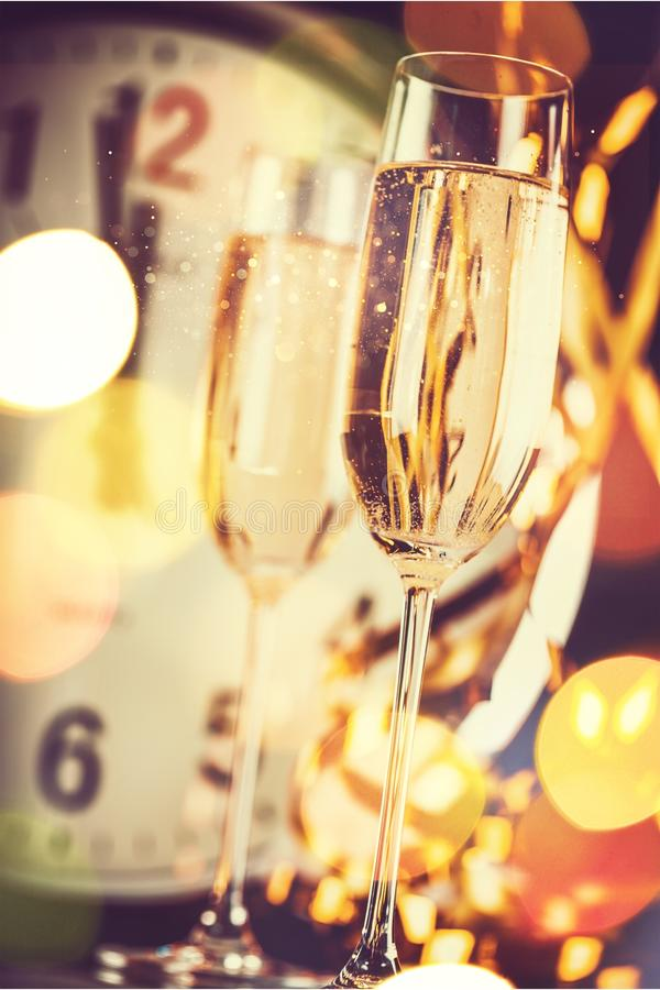 Download New year`s eve stock photo. Image of objects, clock - 111034604