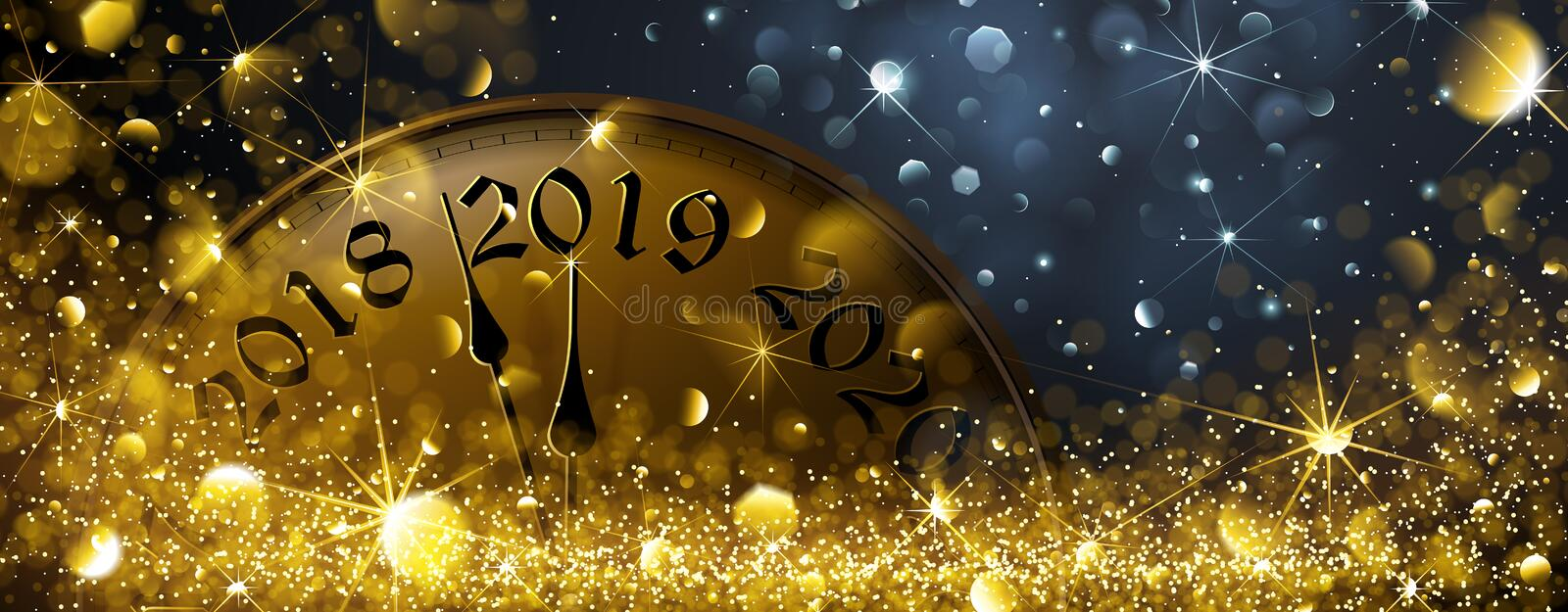 New Year's Eve 2019 vector illustration