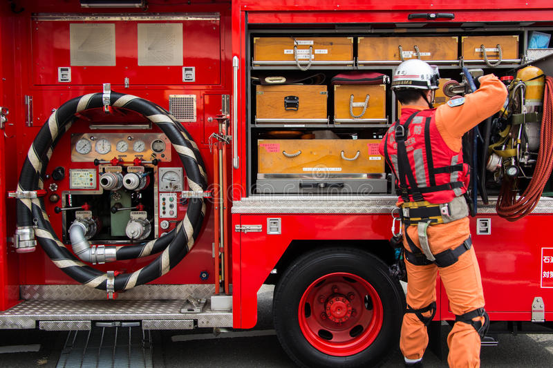 Download The New Year's Fire Review Kanagawa, Japan Editorial Photography - Image of prevention, engine: 34969257