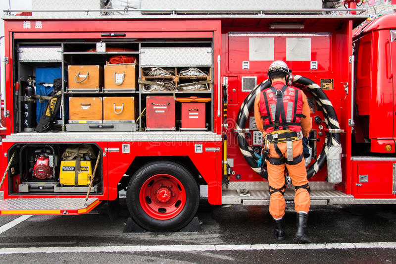 The New Year S Fire Review Kanagawa, Japan Editorial Stock Photo