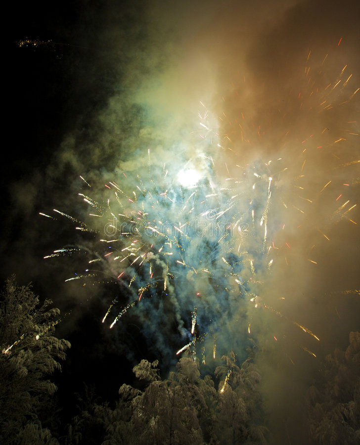 Download New Year's firework stock photo. Image of bang, snow, festival - 7664472