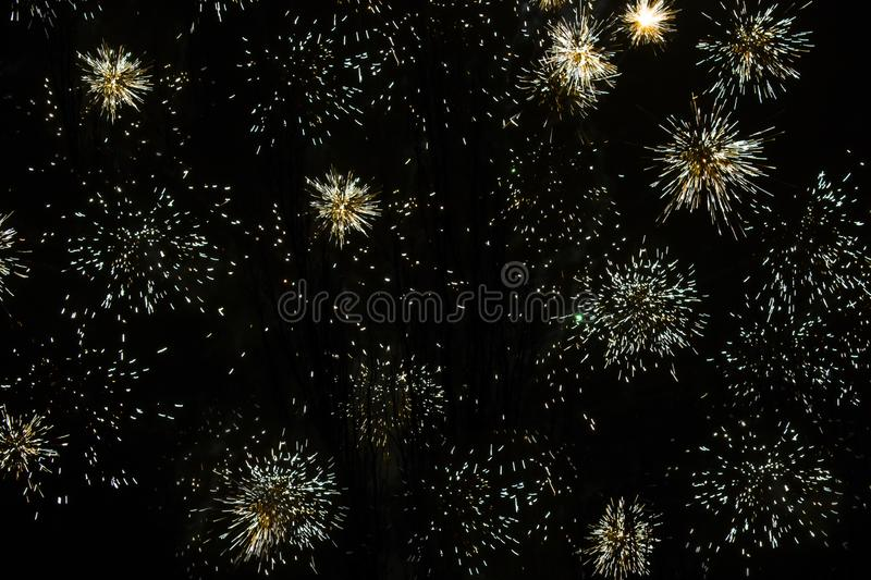 New Year`s fireworks, Christmas or another holiday. royalty free stock photo