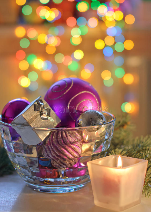 New Year's gift stock image