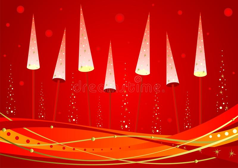 Download New Year's glowing tree stock vector. Image of wood, year - 14417059