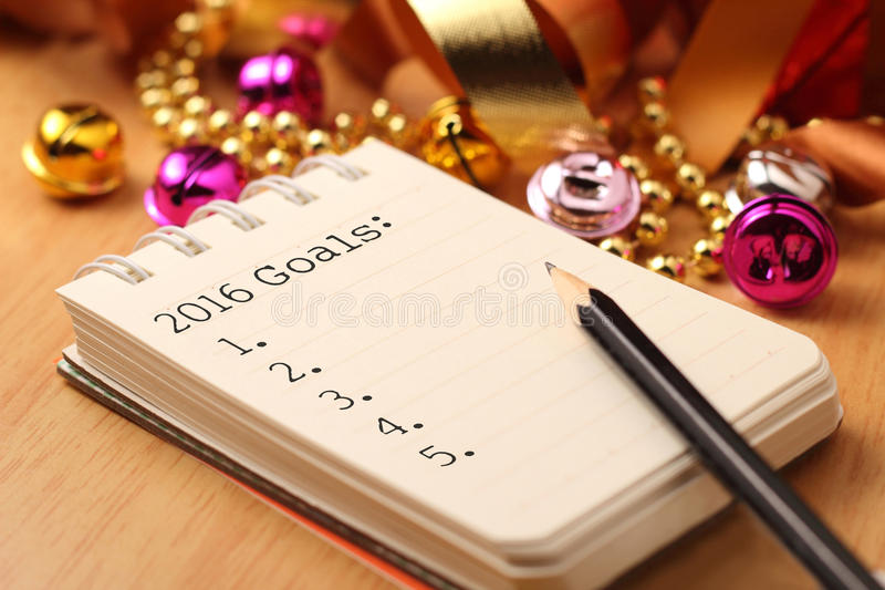 2016 New year's goals royalty free stock image