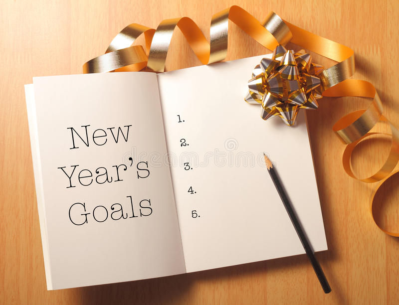New year's goals royalty free stock images