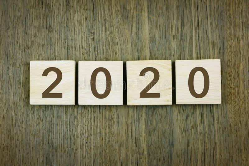 New year`s 2020 for goals setting stock photography
