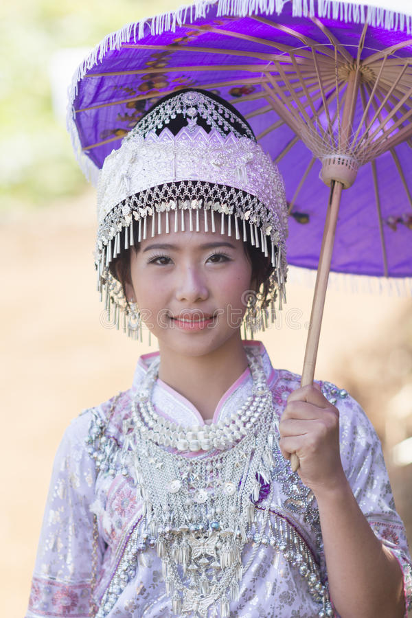 New Year's Hmong tribes stock photo