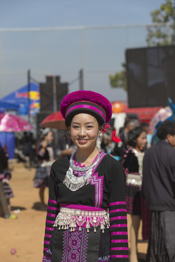 New Year's Hmong tribes stock image