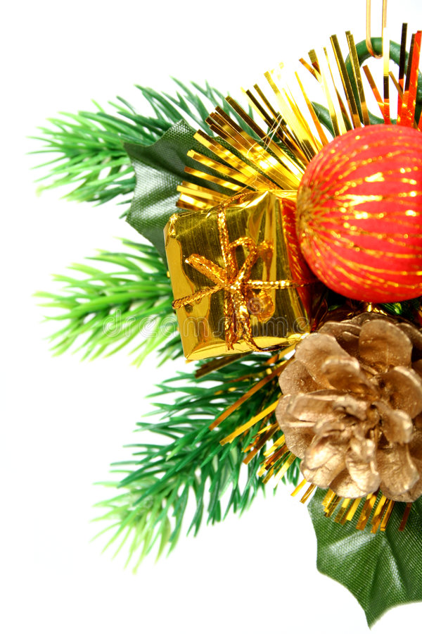 Download New Year's Ornament In The Form Of A Branch With Cone Stock Photography - Image: 1778222