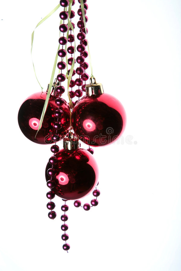 New Year's ornament spheres stock image