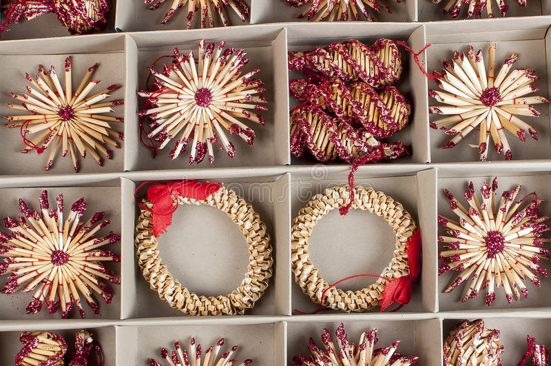 The new Year's ornaments royalty free stock photography