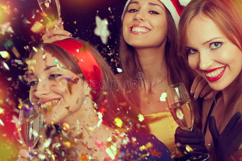 Download New Year's party stock image. Image of female, drink - 27915409