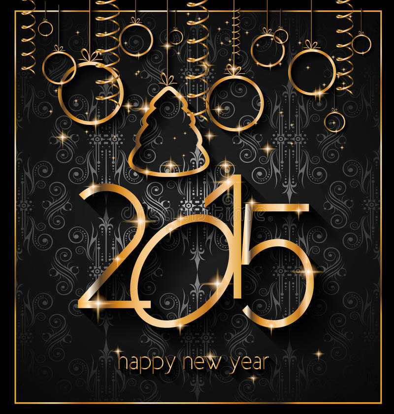 2015 New Year's Party Flyer design for nigh clubs stock illustration