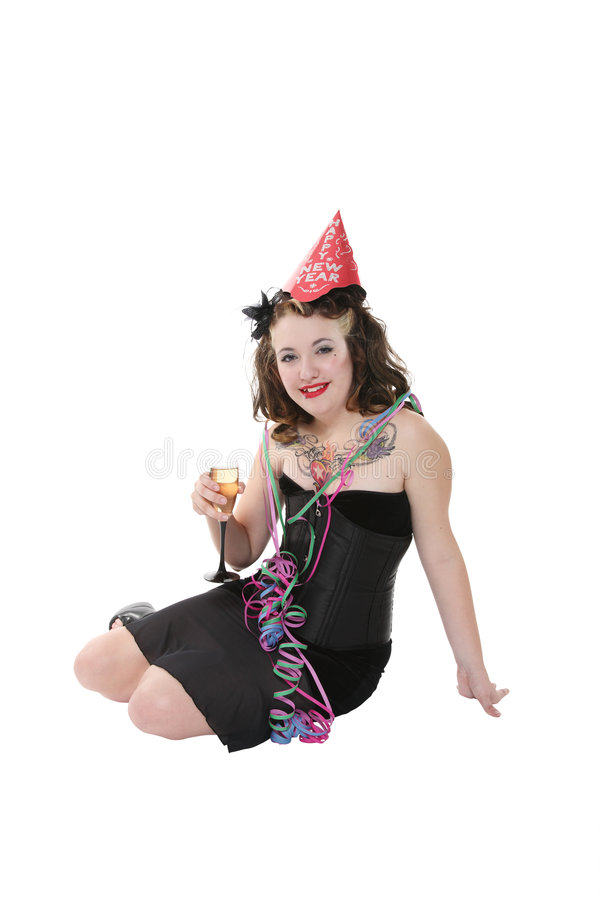 New Year S Party Girl Stock Photos