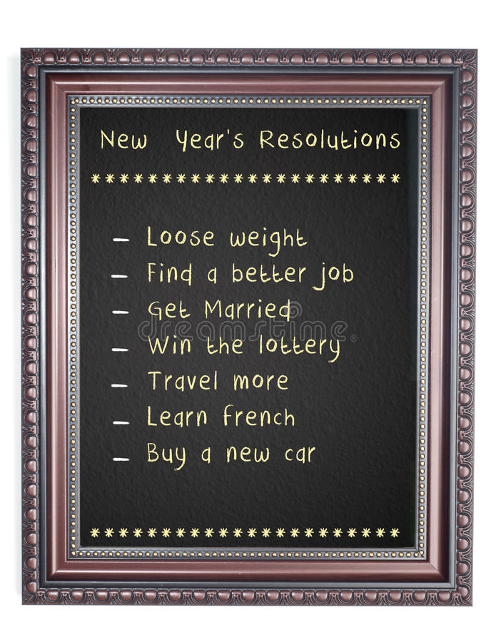Download New Year's Resolution Chalk Board Frame Stock Image - Image of classroom, black: 28243259