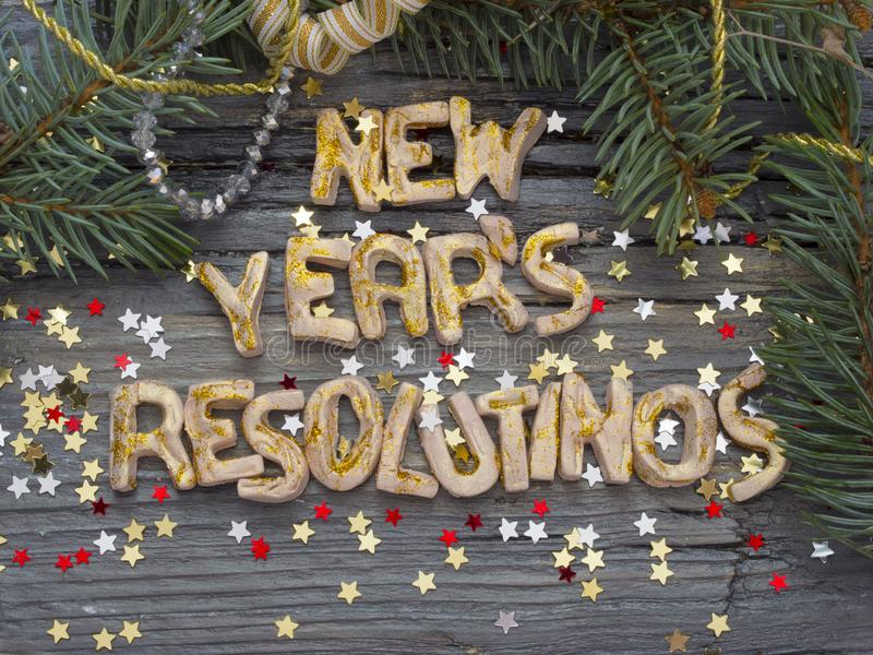 New Year`s Resolution, concept stock image