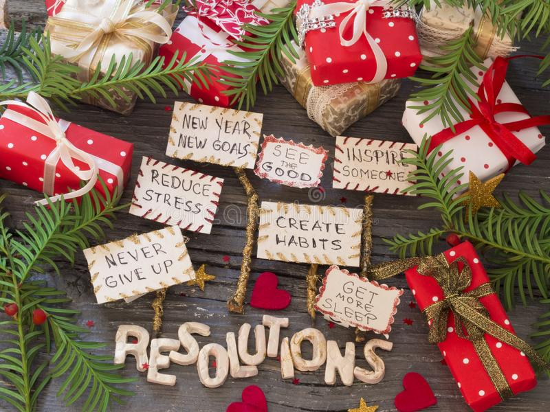 New Year`s Resolution, concept royalty free stock photo