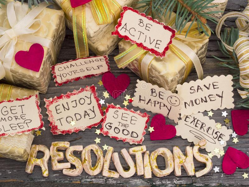 New Year`s Resolution, concept stock photo