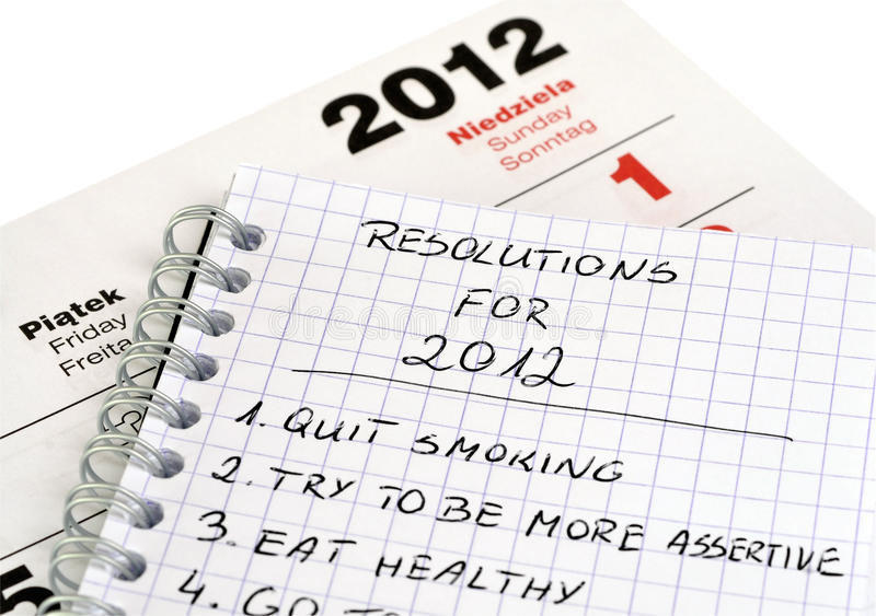 New Year's resolutions royalty free stock photography