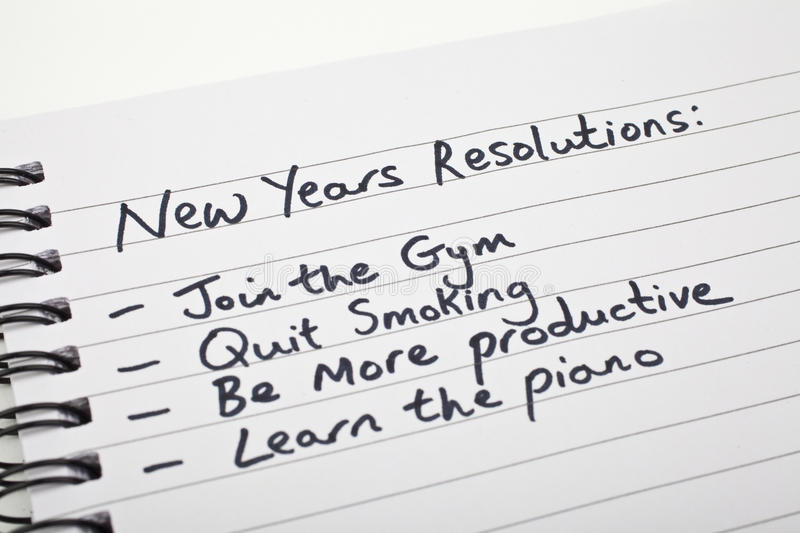New Year's Resolutions stock image