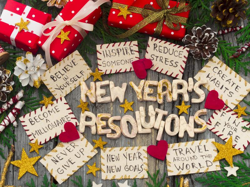 new year`s resolutions for success stock photo image of love