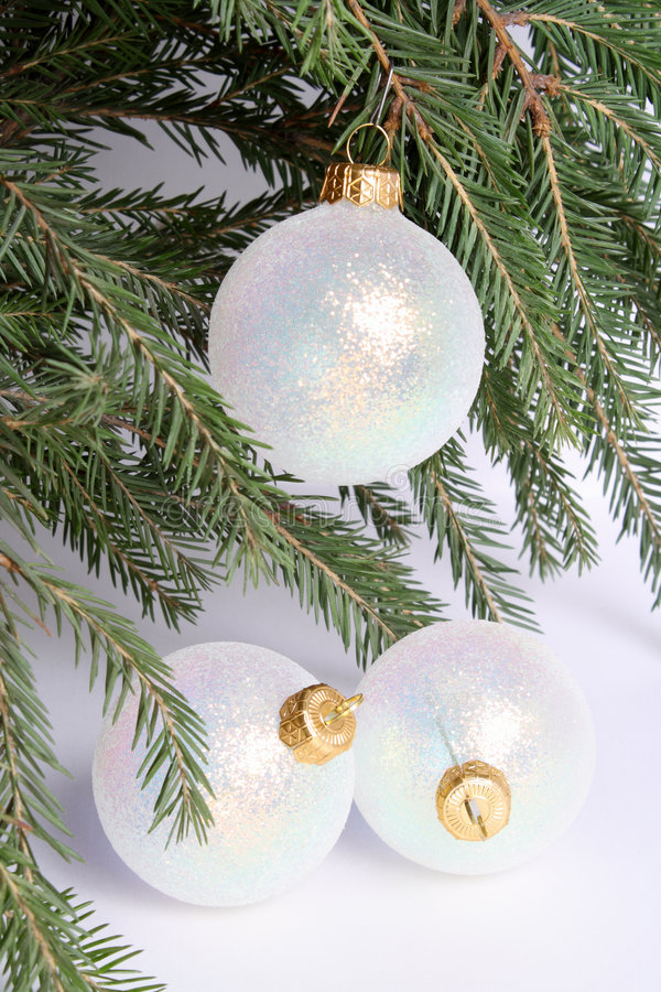 Download New Year's spheres. stock image. Image of needles, year - 7312111