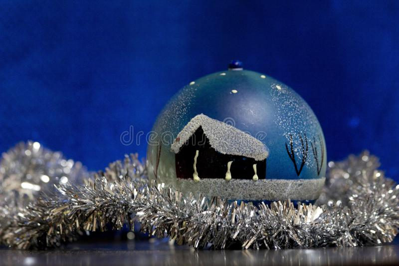 New Year`s Toy ball royalty free stock photography