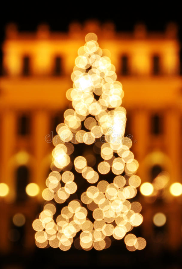 Download New Year's Tree Made From Bokeh Lights Stock Photo - Image of bright, copy: 22151536