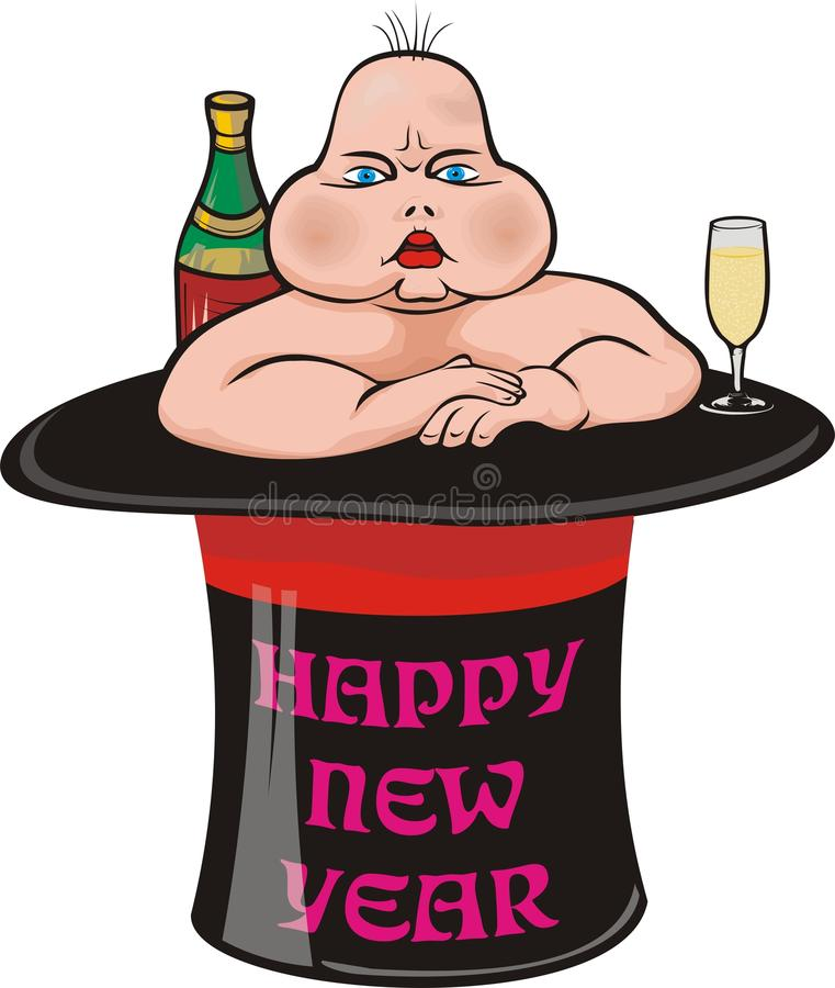 Free New Year`s Ugly Baby Stock Photos - 17335743