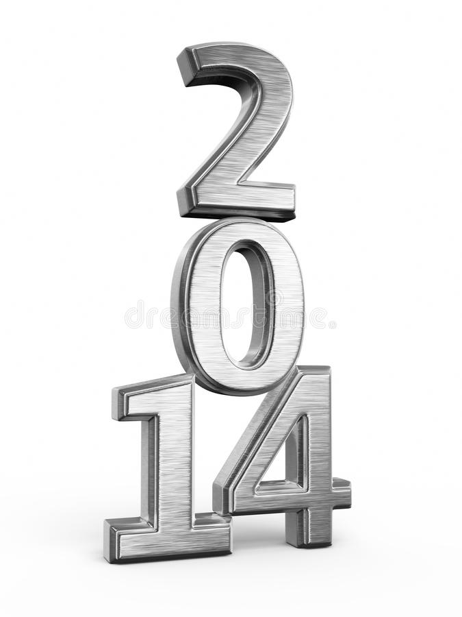 Download New Year 2014 stock illustration. Image of metal, concept - 32318617