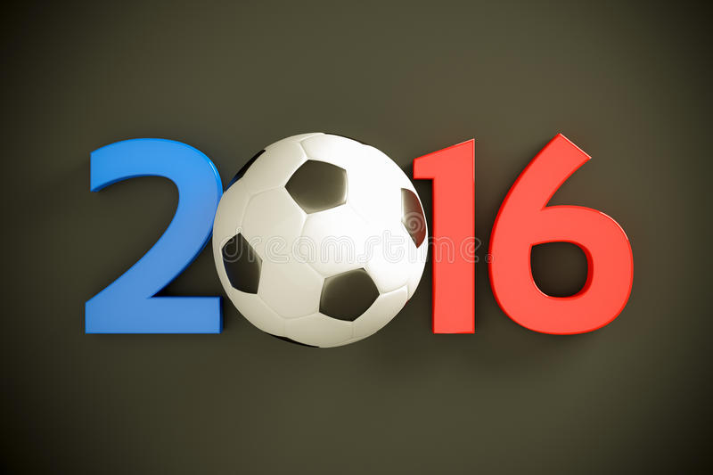New Year and soccer ball vector illustration