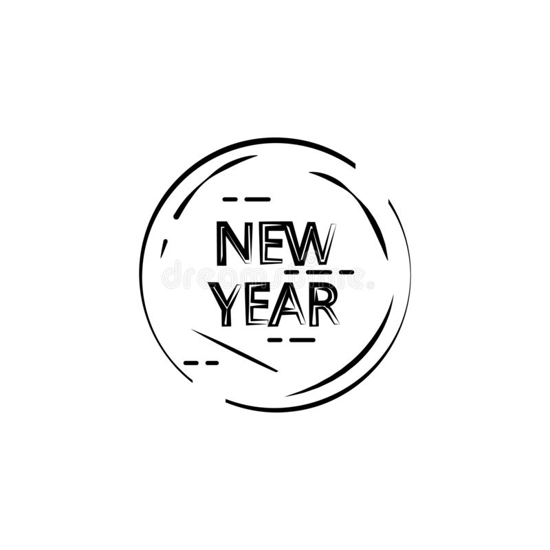 New Year Stamp icon. Element of happy new year icon for mobile concept and web apps. Thin line New Year Stamp icon can be used for vector illustration