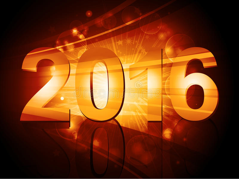 2016 New Year starburst stock illustration