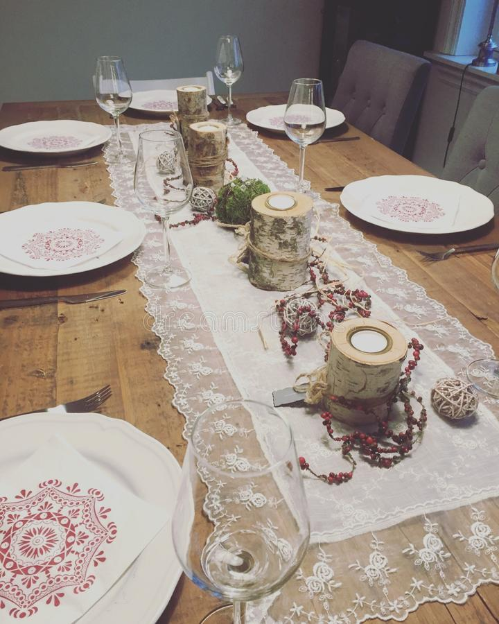 New year table royalty free stock image