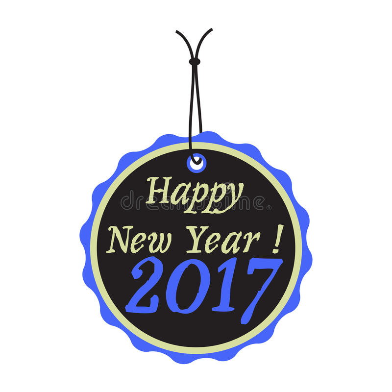 New Year tag stock photography